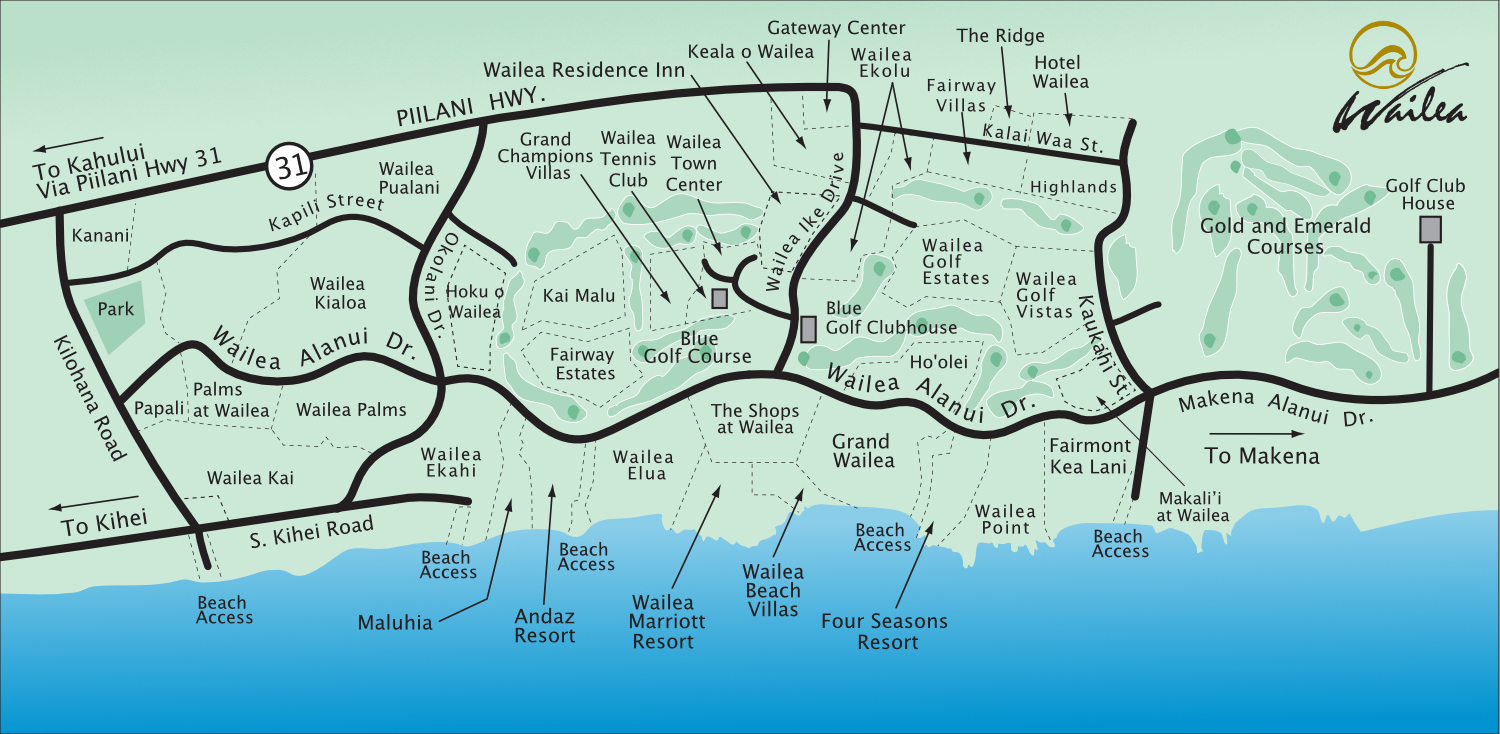 Wailea Resort Map 2017