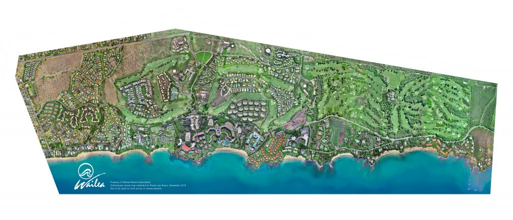 Wailea Drone Aerial Map by Randy Jay Braun