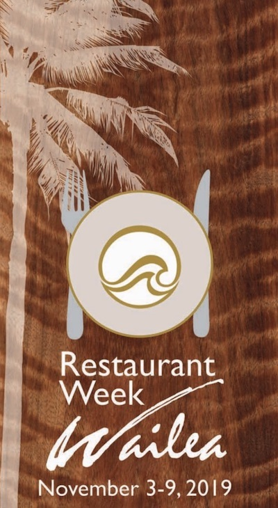 photo of Wailea Restaurant Week menu
