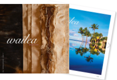 Wailea Magazine Issue 17 Cover image of tapa cloth